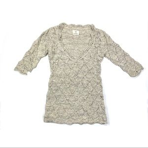 Anthropologie Pins and Needles 3/4 sleeve sweater